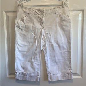 White Capri Pants Size 12